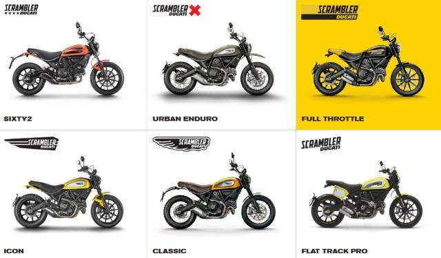 Ducati Scrambler novas versões: Classic, Urban Enduro e Full Throttle
